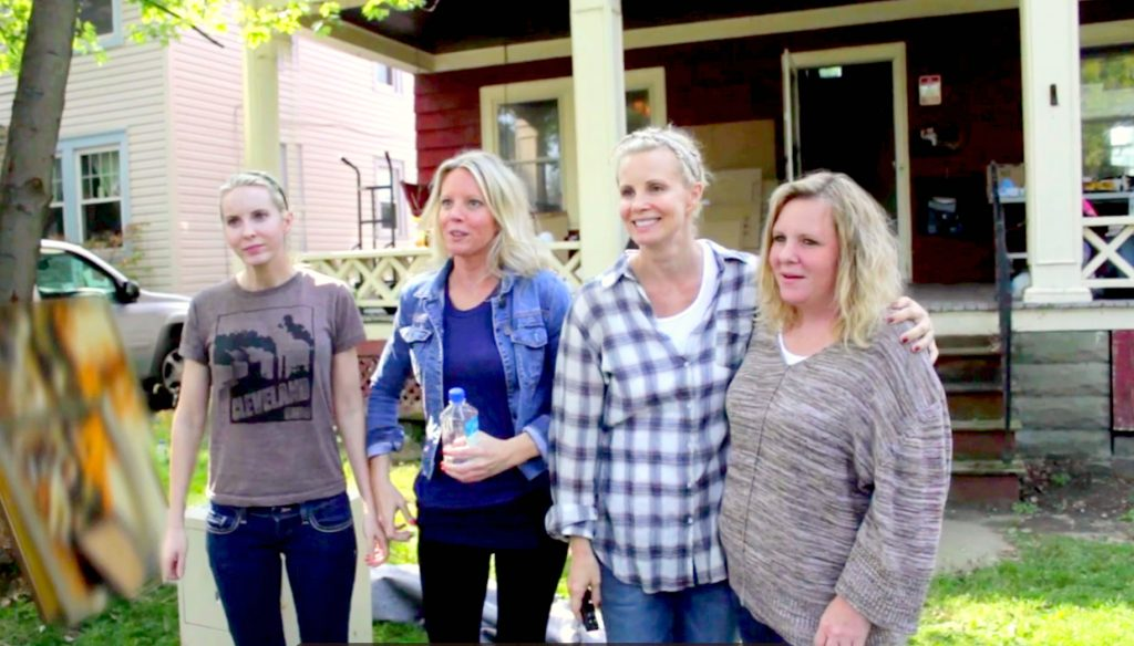 Monica and her sisters bonded through renovation and reality television.